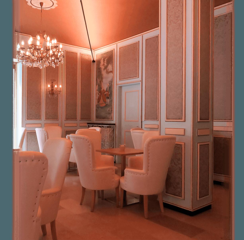 Sala da tè Veneziana, panoramica